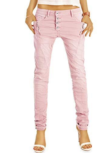 be Styled Damenjeans, Stretch Baggy Boyfriend Hüftjeans im Tapered...