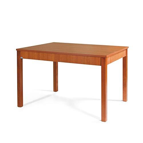 Tavolo da pranzo allungabile interamente in legno cm 70x110/150 ciliegio
