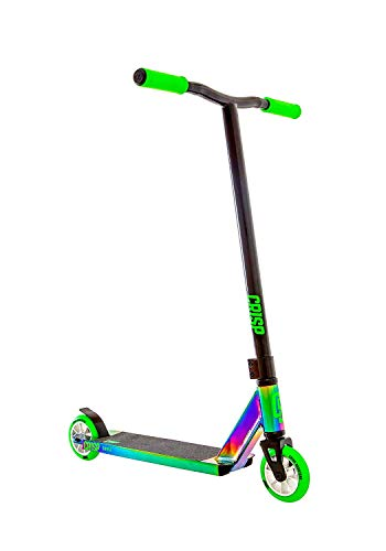 Crisp Surge PRO Stunt Scooter - Colore Cromo/Verde