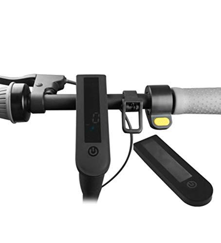 SPEDWHEL Nueva Cubierta de Instrumentos de Silicona Resistente al Agua y anticolisión para Scooter eléctrico NINEBOT MAX G30 (Negro)