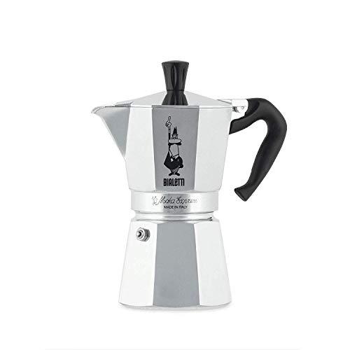 Bialetti Moka Express Espressokocher, Aluminium, metallic, 6 Tassen