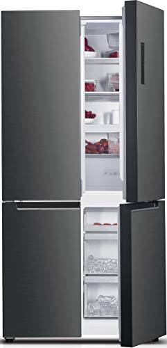 Daya, Frigorifero Combinato 4 Porte, DF4-73NV1XE0, Larghezza 90 cm, Total Inox, Total no Frost, Display LCD