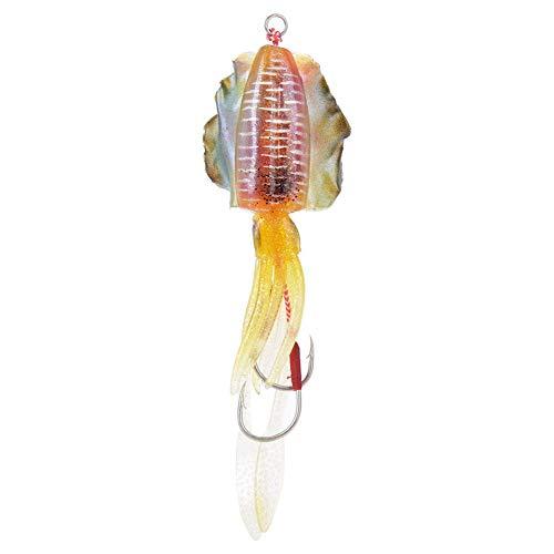 Esca da Pesca per Calamari, Attrezzatura da Pesca Morbida e Luminosa 15,3 cm / 60 g Esca da Pesca per polpi, Esca da Pesca Finta, per la Pesca in Mare/Acqua Dolce(3#)