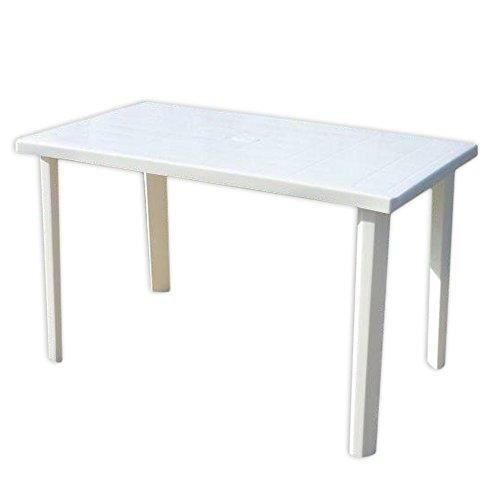 Viscio Trading Marshall Tavolo, Bianco, 120x70x6 cm