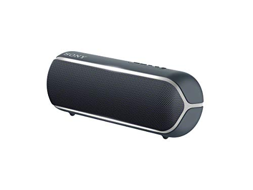 Sony SRS-XB22 Speaker compatto portatile con Extra Bass, Resistente all'Acqua, Luminoso, Nero