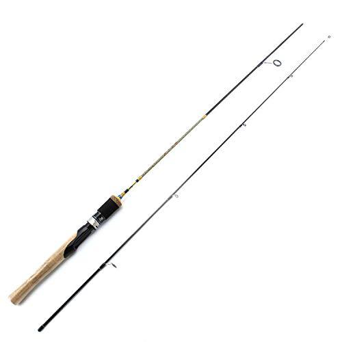 Goods-Store-uk Fishing Rods 1.68m 1.98m 1.8M UL Alimentazione filatura Rod 2 Sec Lure Carbon Peso di 2 8g Canna da Pesca Spinning Veloce Ultralight Spinning Rod Canne, 1,8 m