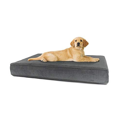 eLuxurySupply Dog Bed - Orthopedic Memory Foam Pet...