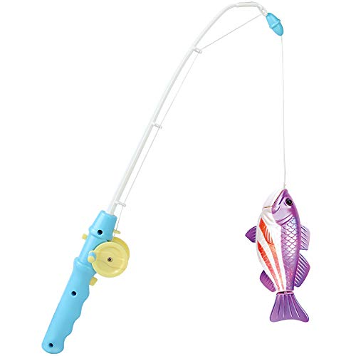Symiu Giocattoli da Pesca Magnetico Pesce Elettronico Giocattoli da Bagno con Canna da Pesca per Bambini 3 4 Anni