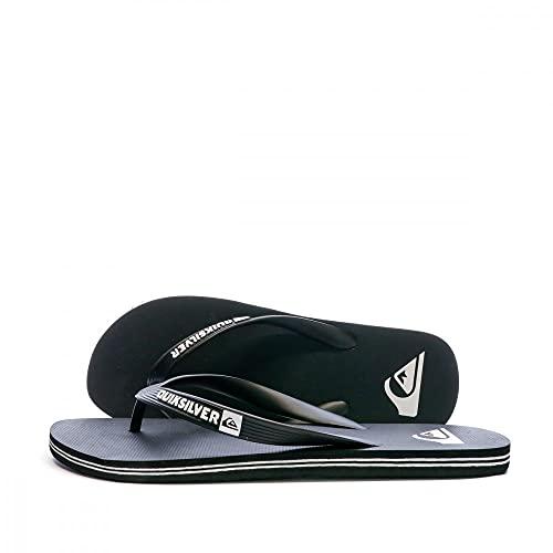 Quiksilver Molokai-Flip-Flops For Men, Zapatos de Playa y Piscina Hombre, Negro (Black/Black/White Xkkw), 42 EU