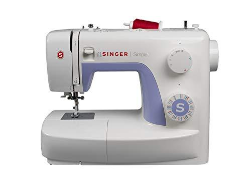 Singer Simple 3232 - Macchina da cucire, 32 operazioni di cucito per qualsiasi tessuto: basic,...