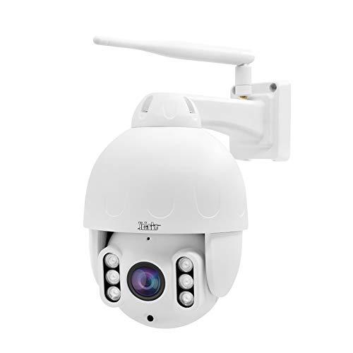 5MP WIFI PTZ telecamera,telecamera di sorveglianza per esterni in metallo IP66,Zoom ottico 4x,IP dome telecamera 30m IR night view,Smart detection 128GB card slot