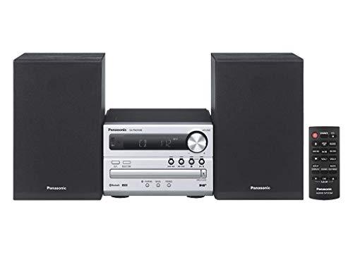 Panasonic SC-PM250EC-S Micro chaîne (Hi-FI, Bluetooth, équipement Audio pour Votre Maison, CD, Bluetooth, USB, MP3, Radio FM, 20 W (RMS), Design Compact, égaliseur) Argenté