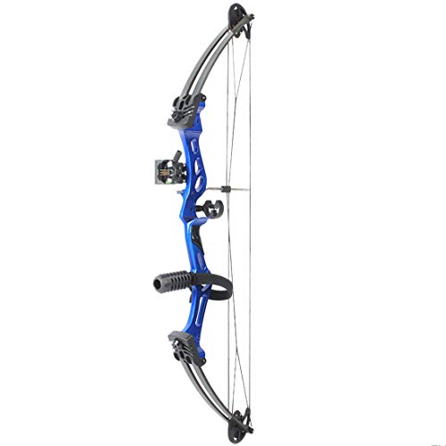 Ggoddess Compound Jagdbogen, Bogenschießen-Jagdausrüstung, Einstellbarer Compoundbogen mit maximaler Geschwindigkeit 310fps für Erwachsene, Blau