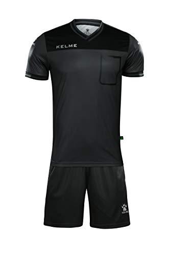 KELME Shortsleeve Referee Set Conjunto Equipaciones Arbitro, Hombre, Dark Gray, XS