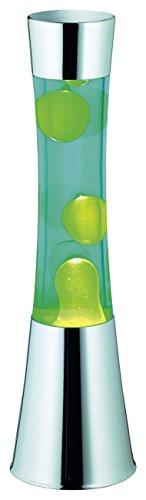 Reality Leuchten Lavalampe ,EEK C, kindersicher, chromfarben, blau Wasser, gelb Wachs, inklusiv 1xGY6.35 R50551116