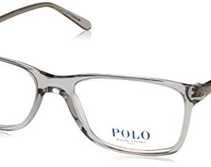 Polo Men's PH2155 Eyeglasses Shiny Semi Trasp Grey 54mm