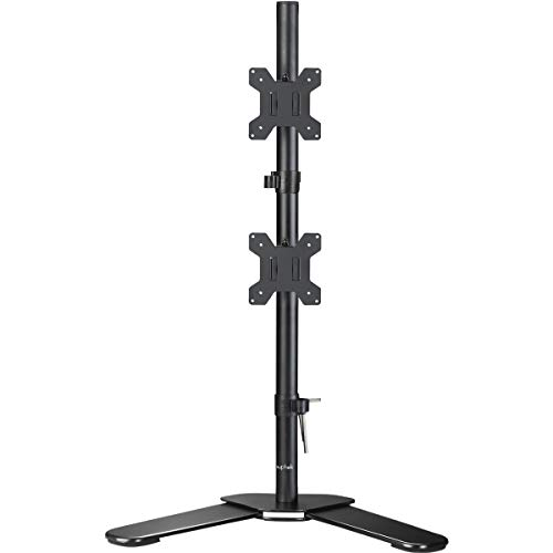 Suptek Dual LED LCD Monitor Stand up Free-Standing Desk Mount for 2 /...