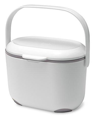 Addis Komposteimer für die Küche, 2,5 l, Weiß/Grün, weiß/grau, 2.5L