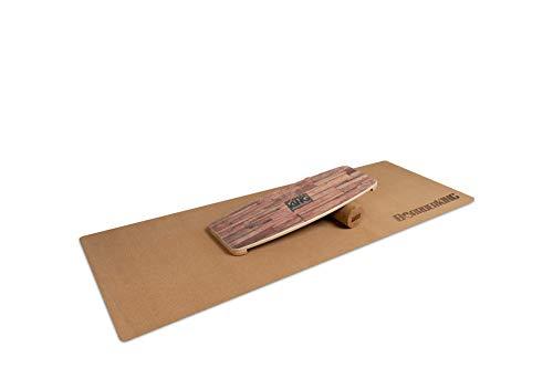 BoarderKING Indoorboard Limited Edition Wakeboard - Skateboard Surfboard Trickboard Balanceboard Balance Board (Brown, 100 mm x 33 cm (Ø x L))