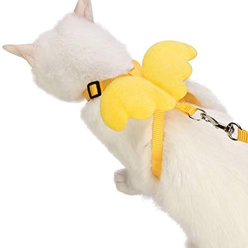 IGUGHIペット ハーネス リード セット天使の翼 ペット用品 胴輪 猫 小型犬 中型犬 ウサギ 牽引ロープ安全...
