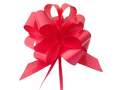 30 lazos de regalo para montar, 10cm de diámetro, cinta de 3,0cm de ancho, para usar en boda, coche, casa, bautismo, graduación o comunión, color blanco, marfil, celeste, rosa, rojo, verde o fucsia