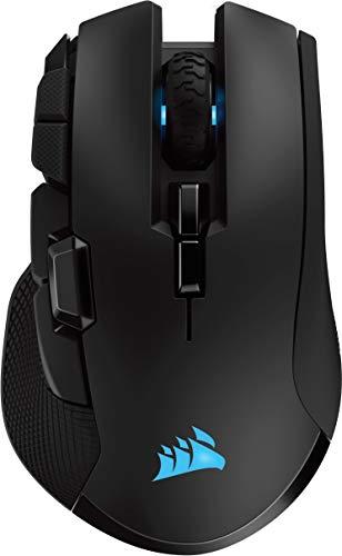 Corsair Ironclaw Wireless RGB, Rechargeable Optique Souris Gaming avec Technologie Slipstream (18000DPI Optique Capteur, Rétroéclairage LED RGB) - Noir