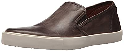 Slip on Sneaker Rubber outsole Leather upper, Leather lining