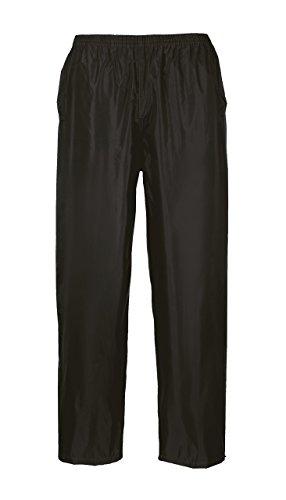Portwest S441–Portwest Pantalon de pluie, XL, noir