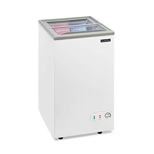KLARSTEIN Pro Eispalast Congelatore con Apertura Scorrevole in Vetro, 60 Litri, Gastronomia,...