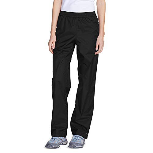 Eddie Bauer Women's Cloud Cap Rain Pants, Black Regular XL