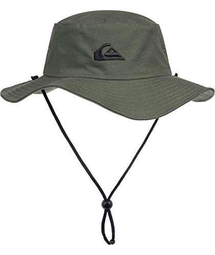 Quiksilver Men's Bushmaster Sun Protection Floppy Bucket Hat, Thyme, Large/X - Large