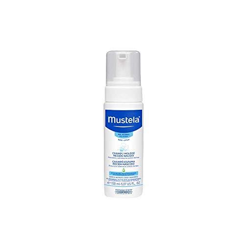 Shampoo Espuma Recém-Nascido, Previne e Elimina a Crosta Láctea, Mustela Bebê, Azul, Médio/150 ml