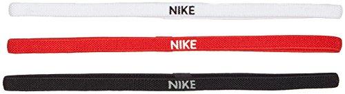 Nike, Fascia per Capelli, Unisex, N.JN.04.945.OS, Nero/Bianco/Rosso, Taglia Unica