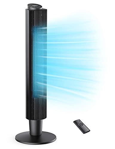 Ventilatore a Torre con Telecomando/Timer 12 Ore, Tower Fan 35 Decibel Silenzioso 106 o 91cm, Ventilatore a Colonna Oscillante a 90 con 3 Modi 5 Velocit, per la Casa e l'Ufficio