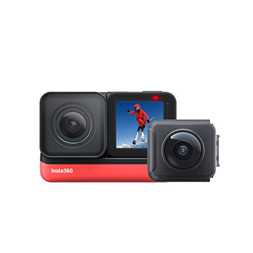 Insta360 ONE R Twin Edition- 4K Action Camera & 5.7K Camera 360 con lenti intercambiabili, Stabilizzazione, IPX8, Impermeabile, Touch Screen, Editing AI