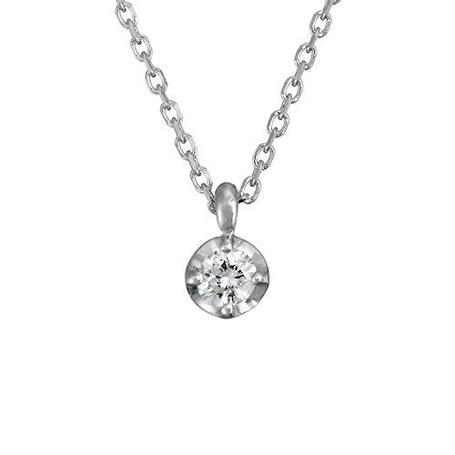 4℃(ヨンドシー) 0.06ct ダイヤモンド K10 ホワイトゴールド(WG)ネックレス 111146123218