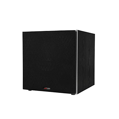 Polk Audio PSW10 10' Powered Subwoofer - Power Port Technology   Up to 100 Watts   Big Bass in Compact Design   Easy Setup with Home Theater Systems