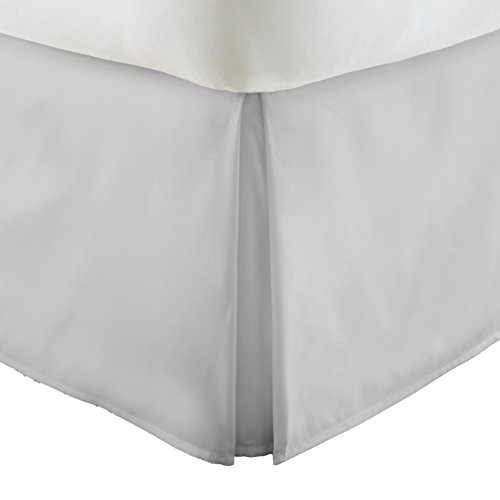 Simply Soft Pleated Bed Skirt, King, Light Gray