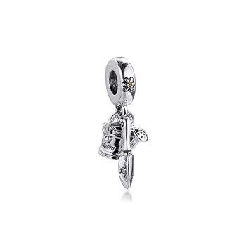 Pandora 925 pendentif en argent sterling bricolage convient au bracelet arrosoir truelle balancent charme rosario charmes perles pour la fabrication de bijoux Kralen