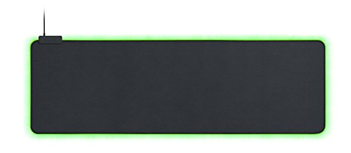 Razer Goliathus Extended Chroma - Extra große weiche XXL Gaming Maus-Matte mit RGB Beleuchtung (Kabelhalterung, Stoff-Oberfläche, gesteppter Rand, optimiert für alle Mäuse) Schwarz