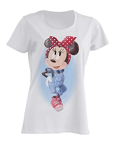 Disney Damen T-Shirt Minnie Mouse Pin-Up S