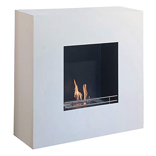 Tecno Air System Milano Indoor Wall-Mountable Fireplace Bio-Ethanol White – Fireplace (1120 mm, 400 mm, 1120 mm, 52 kg)