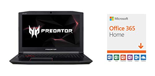 Acer Predator Helios 300 Gaming Laptop, 15.6' Full HD IPS Display w/ 144Hz Refresh Rate, Intel 6-Core i7-8750H, GeForce GTX 1060 6GB Overclockable Graphics, 16GB DDR4, 256GB NVMe SSD, PH315-51-78NP with Microsoft Office 365 Home