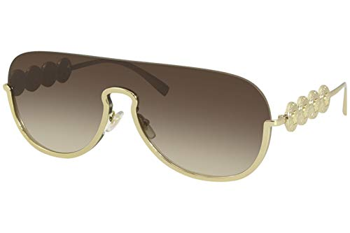 31IYuwt4hdL Brand: Versace Model: 2215 Style: Fashion Shield Frame/Temple Color: Gold - 1002/13 Lens Color: Brown Gradient Size: Lens-39 Bridge-139 Temple-135mm Gender: Women's 1-Year Manufacturer Warranty Frame Material: Metal Geofit: Global
