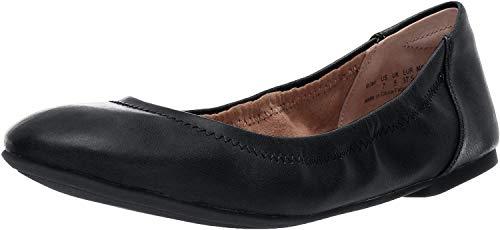 Amazon Essentials Belice Ballet Flat Zapatos Bailarinas,Negro, 38.5 EU