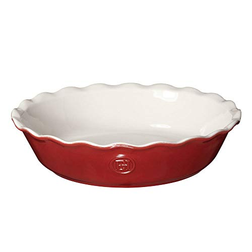 Emile Henry Modern Classics Pie Dish, 9', Rouge Red