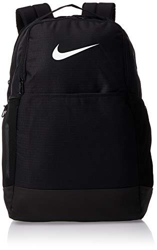 Nike Brasilia Medium Training Backpack, Nike Backpack for Women and Men with Secure Storage & Water Resistant Coating, Black/Black/White