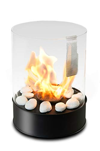 Tabletop Bioethanol Fireplace – Longest Burning 3,5h -Garden Fire Heater 2,5kW - Indoor/Outdoor – 1L Fuel Inc - Decoration for Balcony - Home and Garden Gift Ideas - Chantico by Planika