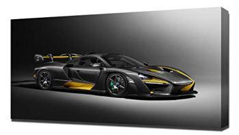 Lilarama 2019 McLaren Senna Carbon Theme by MSO V1 - Canvas Art Print - Wall Art - Canvas Wrap