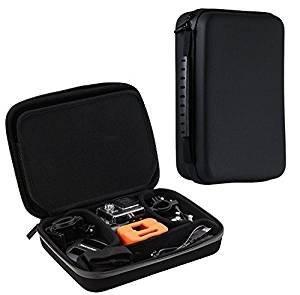 Navitech - Nero Custodia per videocamere d'azione per Crosstour 4K 16MP WiFi Ultra HD Action Camera